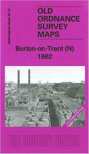 OLD-ORDNANCE-SURVEY-MAP-BURTON-ON-TRENT-N-1882-HOLY-TRINITY-CHURCH-LITTLE-BURTON