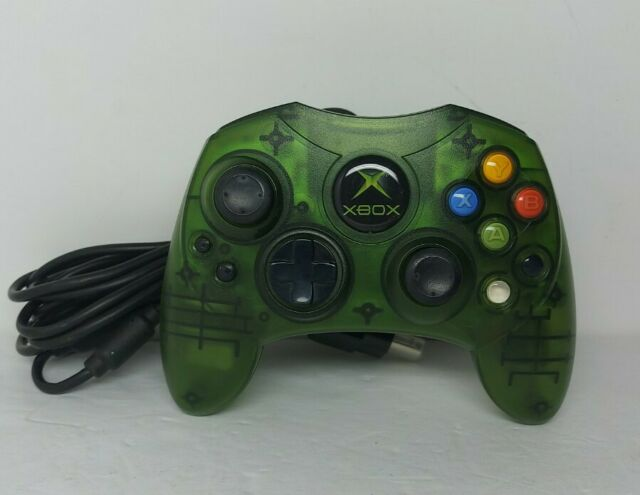 Microsoft Original Xbox Green Translucent S Controller W Break Cable