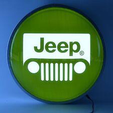 2016 Jeep Rubicon Grill Wrangler opti neon back lit LED sign Round Garage light