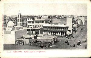 Port-Said-Agypten-Egypte-1900-Village-arabe-Arabisches-Dorf-Verlag-Isaac-Behar