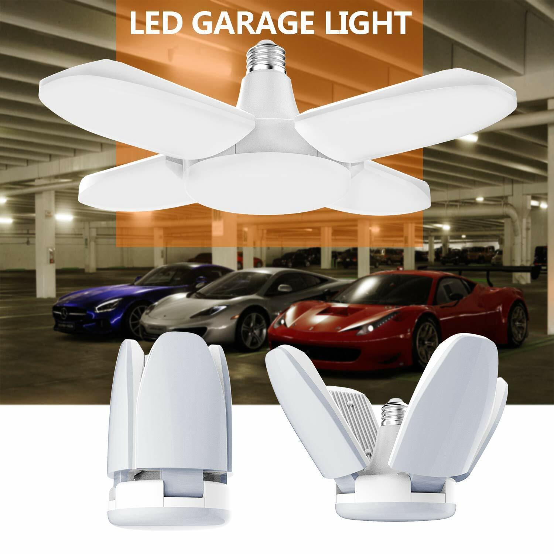 watch 80239 3f13e Details about 60W E27 LED Garage Shop Lights LED Light Fixture 5400lm  Deformable Garage Light