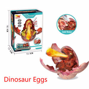Voice Control Light Hatching Spray Dinosaur Egg Funny Plastic Christmas Toys