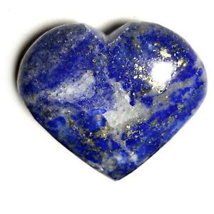 Natural Lapis Lazuli Heart Palm Stone Rock Crystal Healing Reiki Polished Worry
