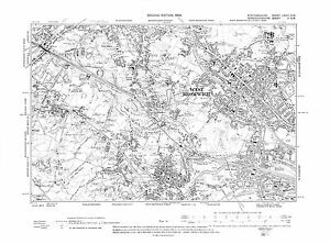 Old Map of West Bromwich Tividale Oldbury Staffordshire in 1938