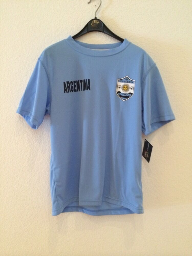 NWT Authentic Striker silverina Light bluee Soccer T-Shirt  Size Large