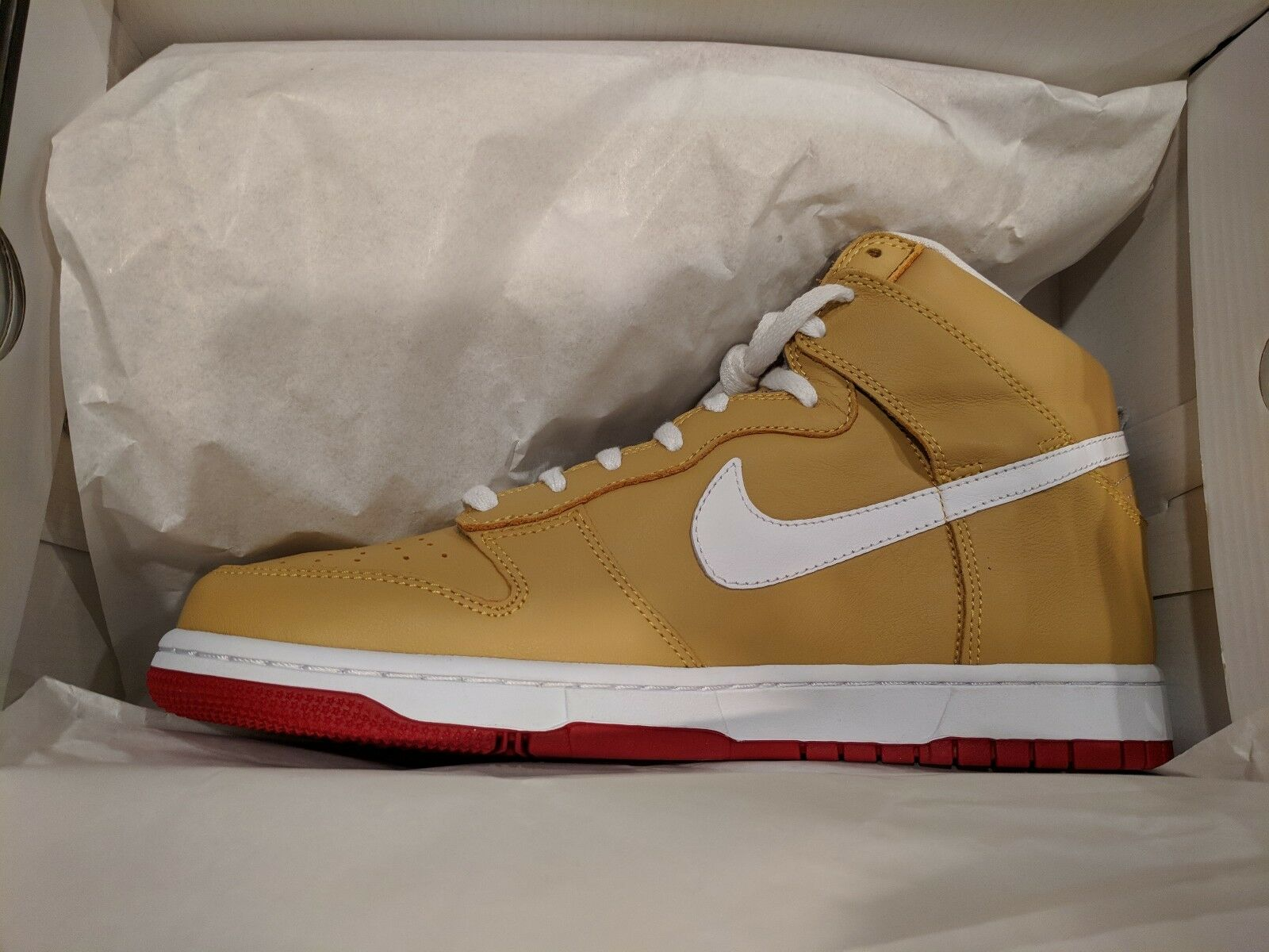 NIKE Sneakers Authentic Gold Tan 49ers custom NEVER WORN-IN BOX