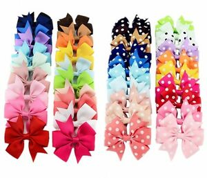 20-40Pcs-3-034-Baby-Girls-Grosgrain-Ribbon-Boutique-Hair-Bows-For-Teens-Toddlers