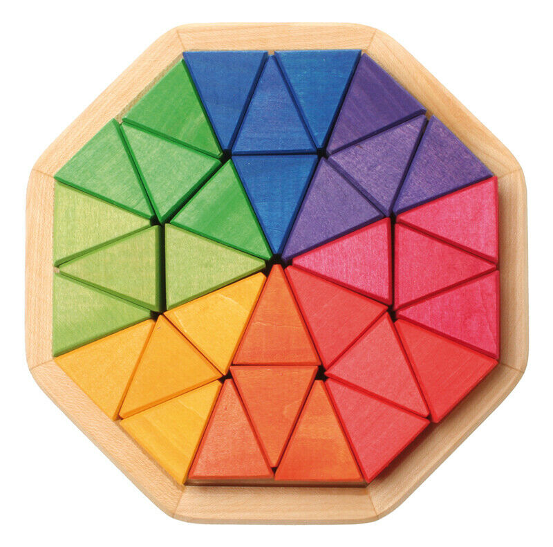 Grimm's Game and Wood Design 43460 Octagon Medium Multicolour in a Wooden Frame