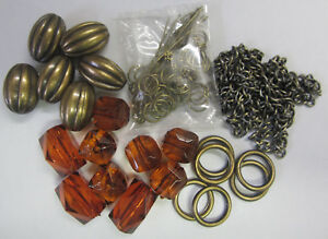 Amber Beads & Bohemian Gold Gatsby Necklace Beading Kit with Instructions TAR123