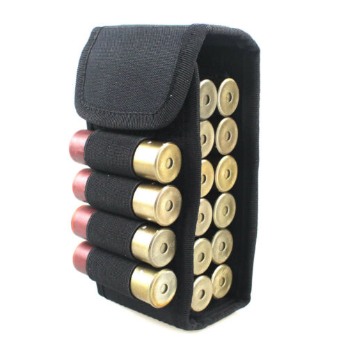 Tactical 12G Bullets Package Hunting 16 Round Shell Package Molle Magazine Pouch