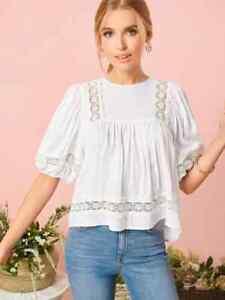 cherrie424: NWOT Shein White Puff Sleeve Top