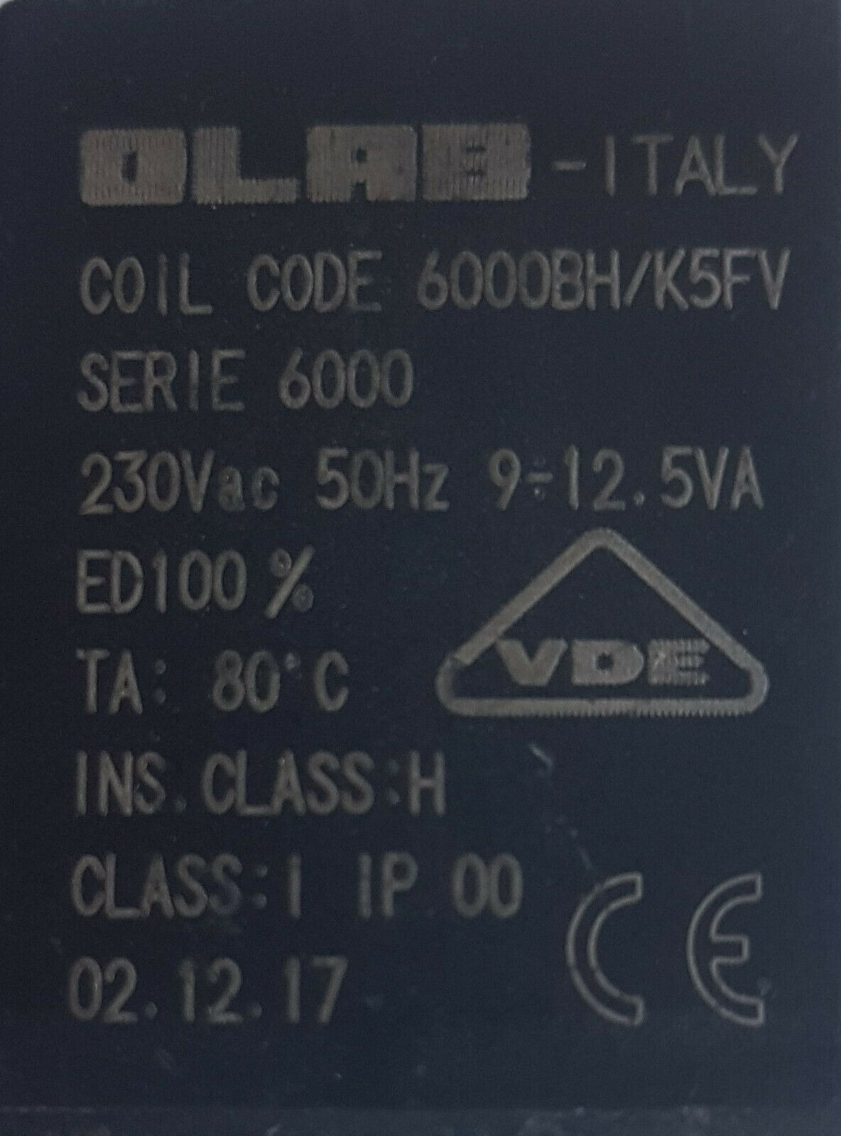 "OLAB 9000 Magnetspule 230V Magnetventil 3//8 1//2/"" Messing *3//4/"" Messing 1/""Messing"