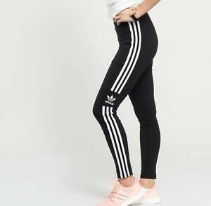 Détails sur Adidas Originals Trefoil Leggings UK 6,8,14 Noir Bnwt 3 dernier afficher le titre d'origine