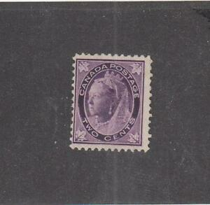 CANADA (MK1703) # 68  F-MNG  2cts 1897 QUEEN VICTORIA MAPLE/LEAF /PURPLE  CV $20