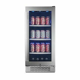 Avallon ABR151SGLH 15 Inch Wide Beverage Center with Left Swing Door
