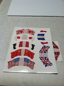 MARX PAPER FLAG DECALS FOR MARX PLAYSETS
