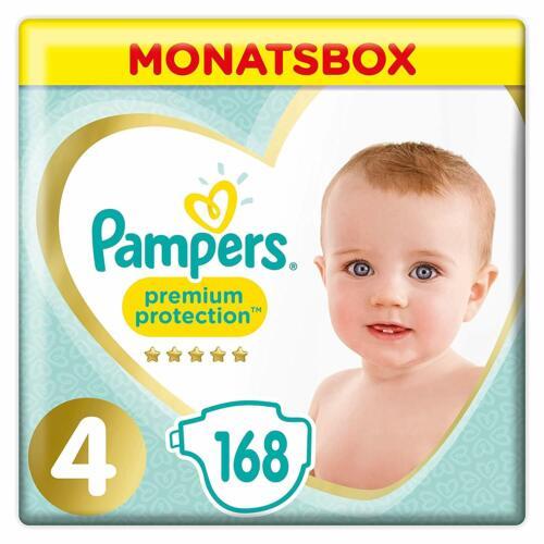 Gr.4 9-14kg Pampers Premium Protection Windeln 1er Pack 1 x 168 S Monatsbox
