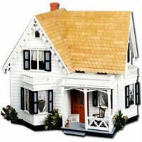 Magnolia Dollhouse Kit Wood Doll House Wooden Kit Gothic Style Toy Play