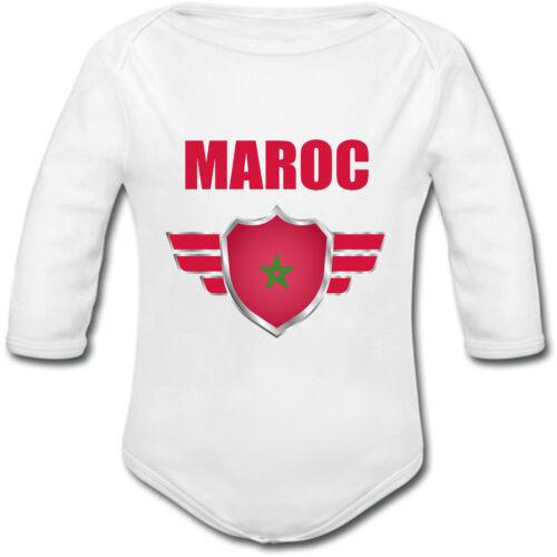 Body Bébé Maroc Coupe du monde de football 2018