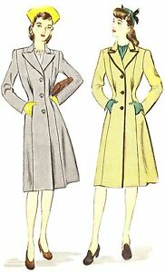 #187 FITTED PRINCESS STYLE COAT PATTERN FOR FASHION DOLLS