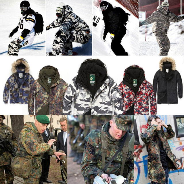 d78a90d34bfc2 SouthPlay Camouflage Mens Waterproof Ski-Snowboard Total Militarylook Jacket