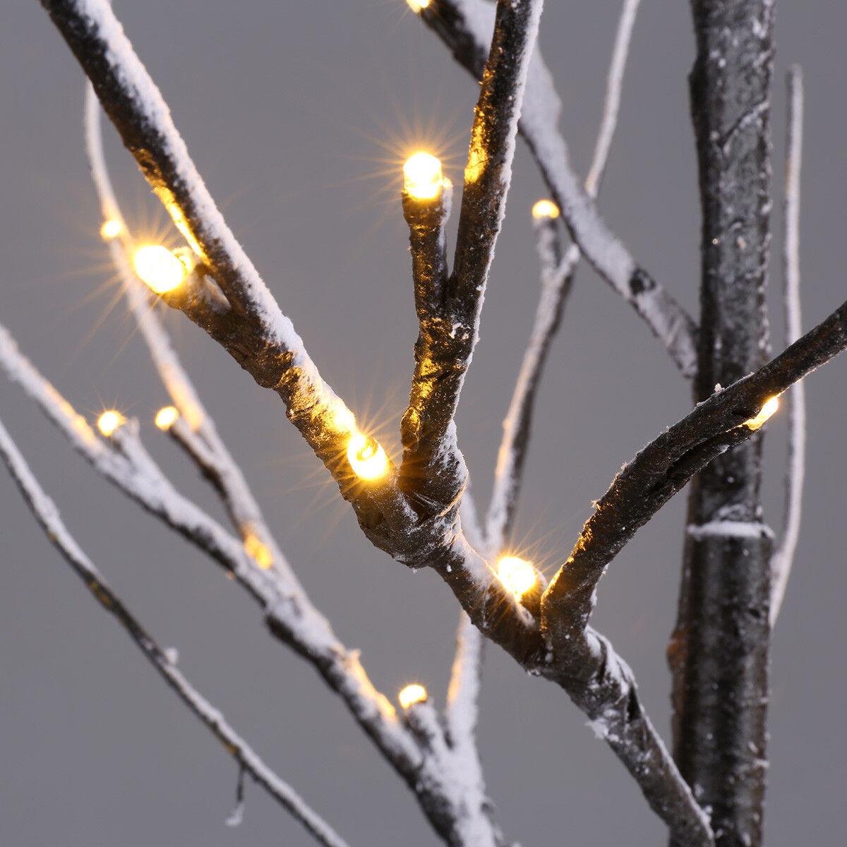 2 FT (environ 0.61 m) blanc effet Noël blanc chaud Twig Arbre 51 DEL de Noël effet de Noël décoration 60 cm d99984
