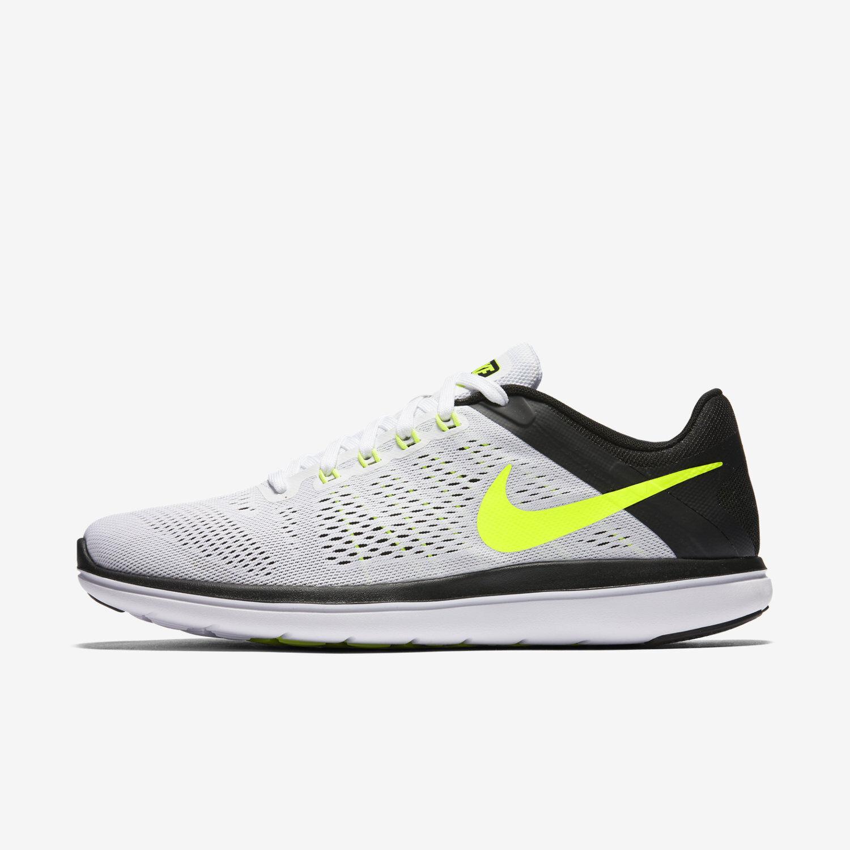 Nike - flex 2016 rn correndo correndo correndo flywire mn sz wmn sz 8 bianco nero volt 830369 101 e5262a