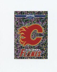 17/18 PANINI NHL STICKER TEAM LOGO #262 CALGARY FLAMES *40598 Verzamelingen