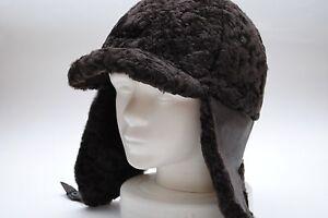 c6fe2df8d8c HAT Women s RUSSIAN USHANKA FUR SHEEP Brown BREND