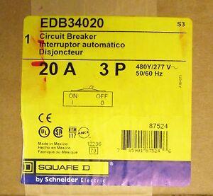 Square D EDB34045 3pole 45amp 480v circuit breaker New warranty type NF panel