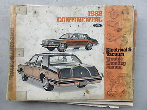 1982 Lincoln Continental Electrical Wiring Diagrams ...