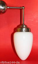 Wandlampe  BAUHAUS Opalglastropfen mit Halter silberfarben Designleuchte