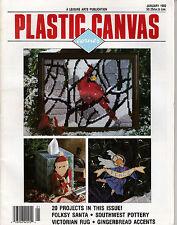 LEISURE ARTS PLASTIC CANVAS CORNER MAGAZINE JANUARY 1992