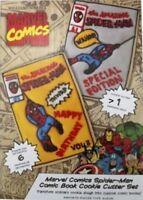 Williams Sonoma Marvel Comics book Cookie Cutter Set Spider-Man