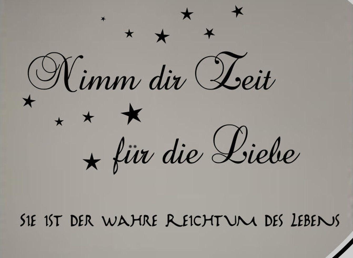 Wandtattoo Schlafzimmer Spruch Nimm dir Zeit für die Liebe...