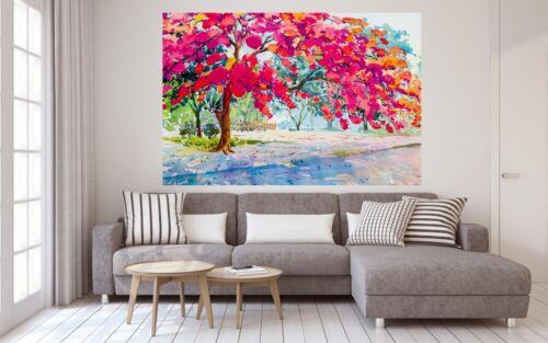 Gemälde Aquarell Baum Art Leinwand Canvas Bild Wandbild Kunstdruck L1622