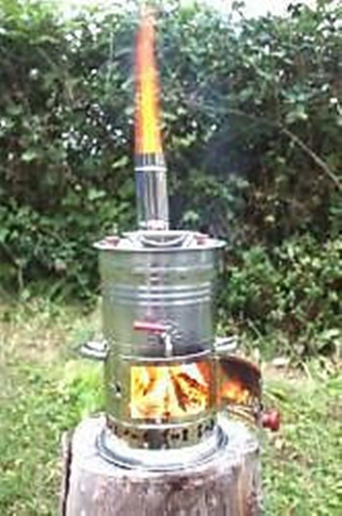 4L BOAT CAMPING TENT CARAVAN TEA KETTLE HOT WATER HEATER WOOD STOVE TEA POT