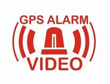 6 Stück GPS Alarm VIDEO System gespiegelt für Innenseite Aufkleber Freistehend