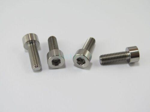 Aerospace Grade 12Pcs M5 x 15 Titanium Ti Bolts Socket Cap Head Bolts Hex Screw