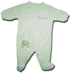 Adorable-BABY-WORLD-Myer-Size-000-Pale-Green-Velour-BEE-Motif-Bodysuit