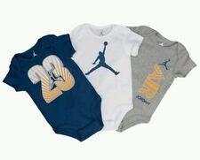 NEW AIR JORDAN 23 BABY BOY 3 PIECE BODYSUITS SET. SZ 0-3M BLUE GREY WHITE