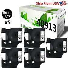 5 Pack 40913 Label Tape Use For Dymo Label Maker Rhinopro 420052006000