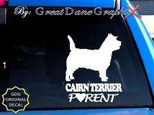 Cairn Terrier Parent(S) - Vinyl Decal Sticker / Color Choice - High Quality