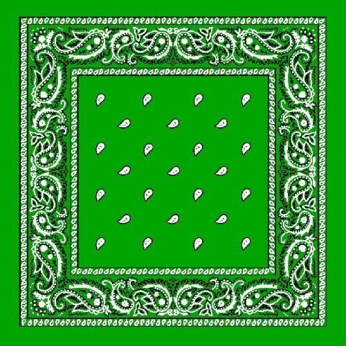 Bandana foulard foulard 100/% coton foulard nickituch Paisley Lime Green