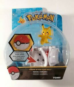 Pokemon-Throw-039-N-039-Pop-Poke-Ball-W-Collectible-Pikachu-Figure-TOMY-New-Sealed