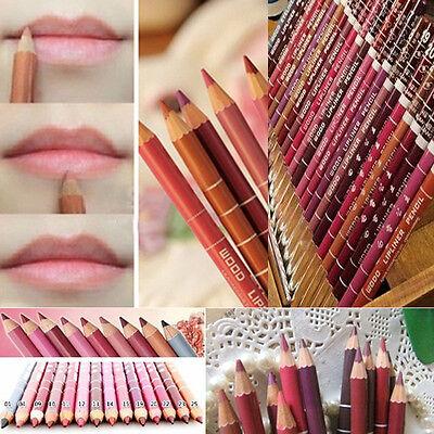 Hot Sale Lot Colors Professional 12PCS Lipliner Waterproof Lip Liner Pencil 15CM