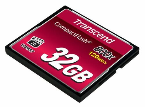 Transcend Compact Flash Tarjeta de memoria 32GB de 800x de alta velocidad
