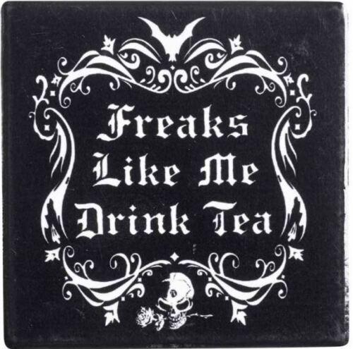Ceramic Coaster Freaks Like Me Drink Tea Alchemy England
