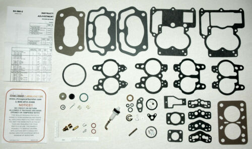 1955-69 CARB KIT ROCHESTER SMALL BORE 2 BARRELS CHEVY 283  302  307 327 ENGINES
