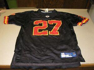 NFL Reebok Kansas City Chiefs L Johnson  27 Black Mesh Jersey BOYS ... d8785df63